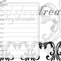 Printable Black and White Paisley Dream - Printable Daily Calendar - Free Printable Calendars