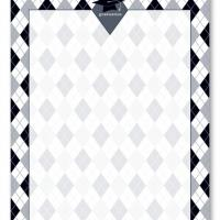 Black and White Plaid Blank Card Invitation