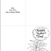 Printable Black And White Plant Gift - Printable Fathers Day Cards - Free Printable Cards