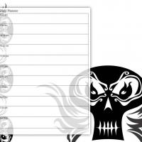 Printable Black and White Punk Idol - Printable Daily Calendar - Free Printable Calendars