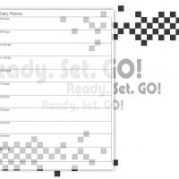 Printable Black and White Racing - Printable Daily Calendar - Free Printable Calendars