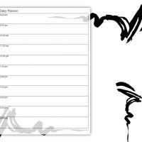 Printable Black and White Scribble - Printable Daily Calendar - Free Printable Calendars