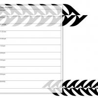 Printable Black and White Sharp Edge - Printable Daily Calendar - Free Printable Calendars