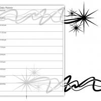 Printable Black and White Star Sparkle - Printable Daily Calendar - Free Printable Calendars