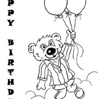 Black And White Teddy Bear Birthday Postcards