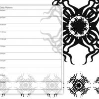 Printable Black and White Tribal Sun - Printable Daily Calendar - Free Printable Calendars