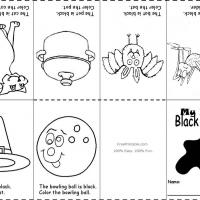 Printable Black Color Recognition - Printable Preschool Worksheets - Free Printable Worksheets