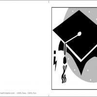 Printable Black Graduation Cap - Printable Graduation Cards - Free Printable Cards