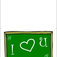 Printable Blackboard I Love You Message - Printable Valentines - Free Printable Cards