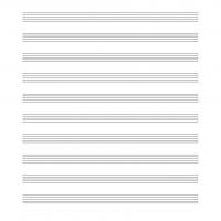 Blank 10 Stave Music Sheet