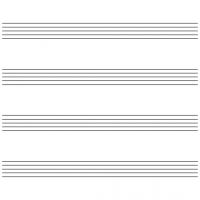 Blank 6 Stave Music Sheet