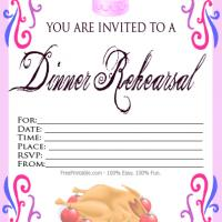 Printable Blank Dinner Rehearsal Dinner Invitation - Printable Wedding Invitation Cards - Free Printable Invitations