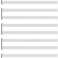 Blank Instrumental Duet Music Sheet