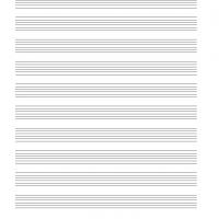 Blank Music Sheet