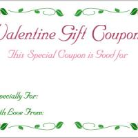 Blank Valentine Coupon