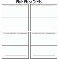 Printable Blank White Place Card - Printable Place Cards - Free Printable Cards