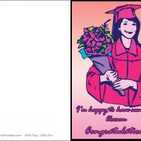 Printable Blossoming After Graduation - Printable Graduation Cards - Free Printable Cards