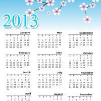 Blossoms 2013 Calendar