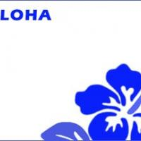 Blue Aloha Name Tag