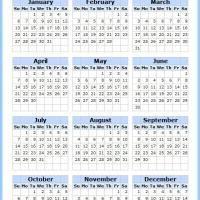 Printable Blue and Boxed 2013 Calendar - Printable Yearly Calendar - Free Printable Calendars