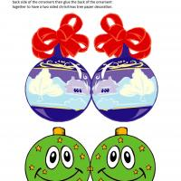 Printable Blue and Green Christmas Tree Balls - Printable Templates - Free Printable Activities