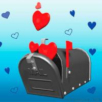Blue And Mailbox Valentine Postcards