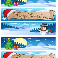 Blue Christmas Bookmarks