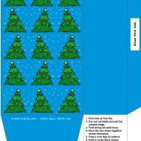 Printable Blue Christmas Tree Bag - Printable Templates - Free Printable Activities