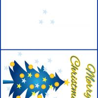 Printable Blue Christmas Tree - Printable Christmas Cards - Free Printable Cards