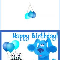 Printable Blue Clues Birthday Card - Printable Birthday Cards - Free Printable Cards