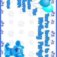 Printable Blue Clues Birthday Party - Printable Birthday Invitation Cards - Free Printable Invitations