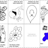 Printable Blue Color Recognition - Printable Preschool Worksheets - Free Printable Worksheets