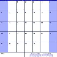 Printable Blue December 2009 Calendar - Printable Monthly Calendars - Free Printable Calendars