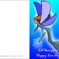 Printable Blue Fairy - Printable Valentines - Free Printable Cards