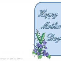 Printable Blue Flowers - Printable Mothers Day Cards - Free Printable Cards