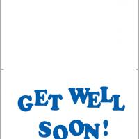 Printable Blue Get Well Soon Greeting - Printable Get Well Cards - Free Printable Cards