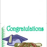 Printable Blue Graduation Cap And Diploma - Printable Graduation Cards - Free Printable Cards