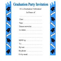 Blue Graduation Elements Margin Invite