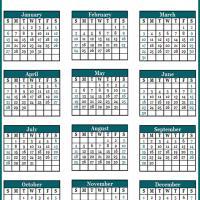 Blue Green Portrait 2013 Calendar