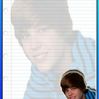 Printable Blue Justin Bieber Stationary - Printable Stationary - Free Printable Activities