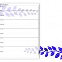 Printable Blue Leaves Daily Planner - Printable Daily Calendar - Free Printable Calendars