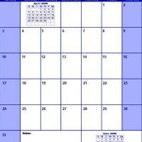 Blue May 2009 Calendar