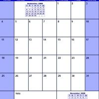 Printable Blue October 2009 Calendar - Printable Monthly Calendars - Free Printable Calendars