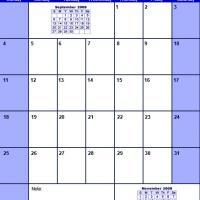 Blue October 2009 Calendar