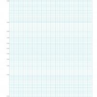 Blue Rectangular Graph Paper