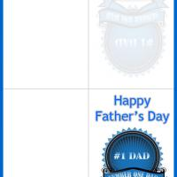 Printable Blue Ribbon for Father's Day - Printable Fathers Day Cards - Free Printable Cards