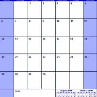 Printable Blue September 2009 Calendar - Printable Monthly Calendars - Free Printable Calendars