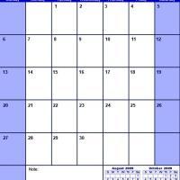Blue September 2009 Calendar