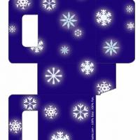 Printable Blue Snowflake Christmas Bag - Printable Templates - Free Printable Activities