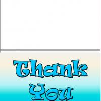 Printable Blue Thank You - Printable Thank You Cards - Free Printable Cards